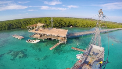 new cable wakeboard park in Cuba Cayo Guillermo